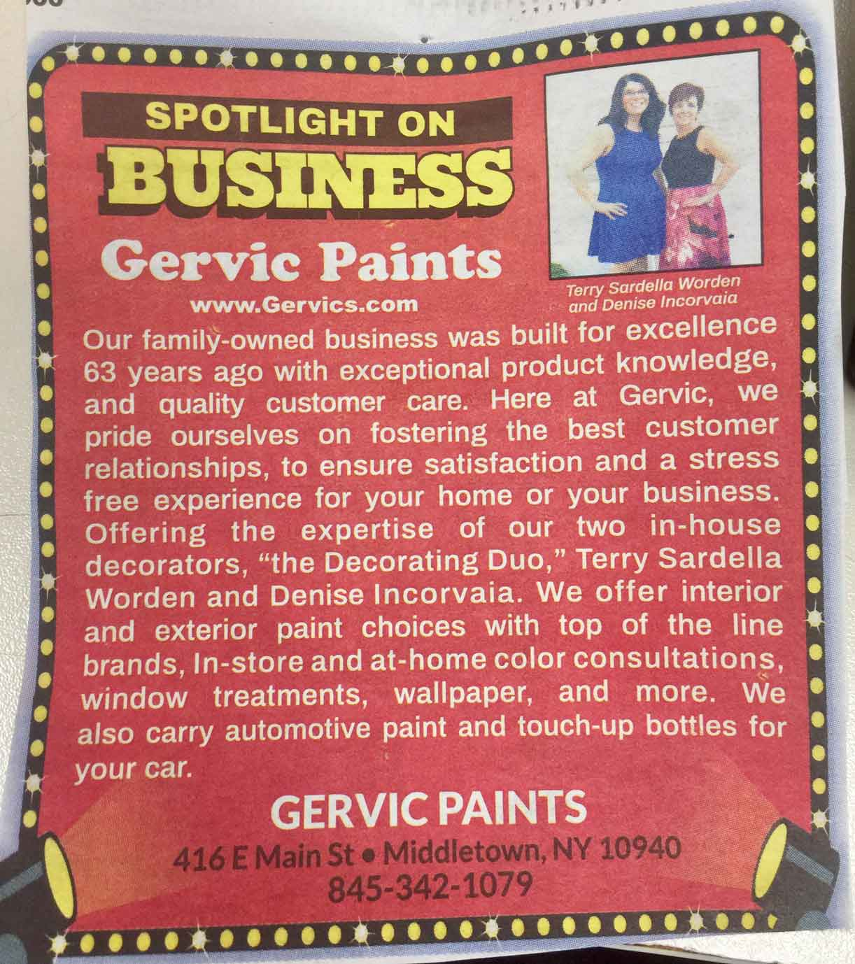Meet the Experts | Gervic Paints & Decorating Center